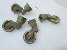 Single Large Vintage Brass /& Ceramic Castor Wheel in the Victorian Style