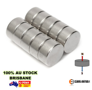 10x Disc 10mm x 5mm N48 | Neodymium Rare Earth Magnets | Fridge Hobby Craft Art
