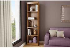 """5-Shelf Narrow Bookcase, Brown, Sturdy Space Saver Storage ~ 71.2"""" H x 19"""" W"""