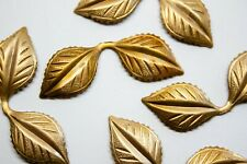 11 x Brass Leaf Stamping Component Jewellery Findings Limited Edition DS078