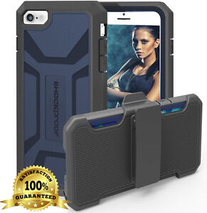 "Rugged Shockproof Armor Defender [Case + Belt Clip Holster] for iPhone 6S (4.7"")"