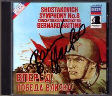 Bernard HAITINK Signed SHOSTAKOVICH Symphony 8 Concertgebouw CD Schostakowitsch