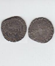 Gertbrolen Henri III (1574-1589)  Huitième d' écu en  argent 1586 Bayonne