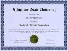 Doctor Marimba Appreciation Diploma Vancore Musser