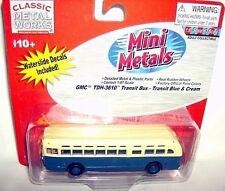 classic metal 1/87 HO 1948 GMC TDH-3610 TRANSIT BUS-blu