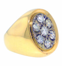 1.75ctw H-I MENS ROUND DIAMOND RING 14K YELLOW GOLD