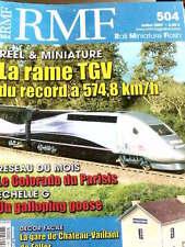 RMF Rail Miniature Flash n°504 2007 - La Rame TGV record 574,8 km/h - Tr.23