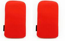 2 x Funda Roja de Terciopelo para Telefono Movil iPhone 4G 3G 3Gs 4S Nuevo 2139