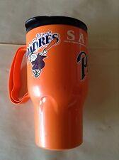 Vintage San Diego Padres Orange Plastic Mug The Roadster 16 Oz Made in Usa