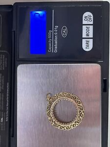 9ct gold solid half sovereign pendant mount Great Quality Not Scrap