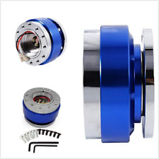 Racing Car Steering Wheel Ball Quick Release Hub Adapter Snap Off Boss Kits Blue