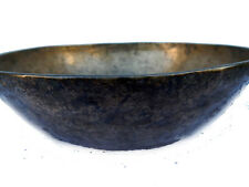 Bol Chantant Bronze Ancien SOL Manipuri WBengal 18s Ø=24cm H=6,5cm 907g Inde