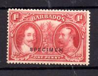 Barbados 1927 1d carmine SG240 Specimen mint LHM WS20629