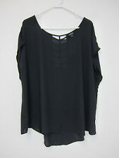 Torrid Cage Back Dolman Top - Womens  3 - Black - NWT