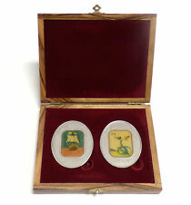 Salvador Dali Tribes of Israel Levi and Dan .999 Fine Silver Colorized Medal Set
