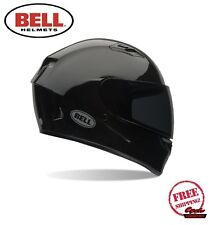 BELL QUALIFIER MOTORCYCLE HELMET GLOSS BLACK DOT APPROVED FREE SHIPPING NEW