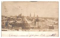 1906 RPPC Menomonee Falls, WI in Winter Real Photo Postcard