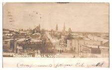 1906 RPPC Menomonee Falls, WI in Winter Real Photo Postcard