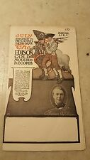 July 1907 Edison Phonograph Cylinder Record Advertising Flyer