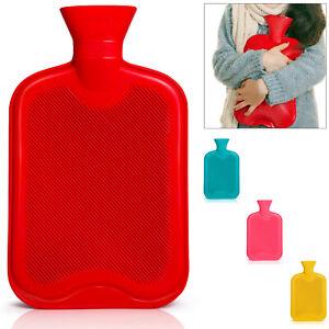 Wärmflasche Bettflasche 2L Naturgummi Wärmekissen Wärme Flasche Bettflasche Groß