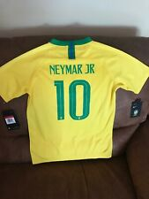 0102afd9544 Nike Brasil Neymar JR  10 National Team Soccer Jersey NWT Size Large Youth