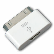 Micro USB Hembra a 30pin Macho Adaptador dock para iPhone 4 4S 3G 3GS iPod iPad