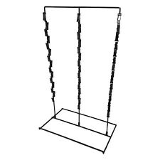 3 Strip 36 Clip Snack Rack - Counter Top Display for Potato Chip Bags - Black
