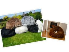 Luxurious Genuine Sheepskin Beanbag Chair Lounger Choice of Color wool 12-20cm