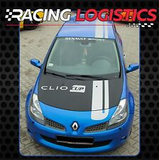 Autocollant CLIO CUP TOIT CAPOT HAYON RAYUES MK3 RENAULT SPORT RS MK2 Racing set