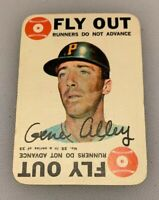 1968 Topps Card Game # 25 Gene Alley Pittsburgh Pirates Fly Out HOF