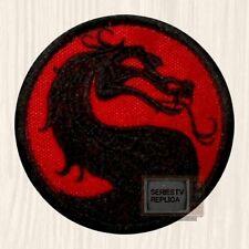 Mortal Kombat 9 Logo Embroidered Patch Sub-zero Scorpion Raiden Red & Black PS