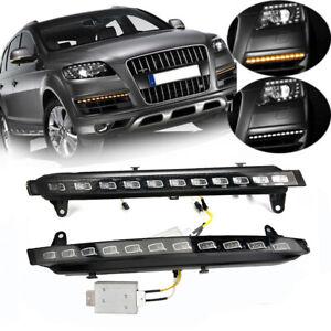 2 xAuto DRL LED Daytime Running Light Strip Light Fog Lamp For Audi q7 2007 08 09 DE