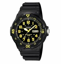 MRW-200H-9B Casio Men's black Rubber Strap Day Date 100M Analog Sports Watch