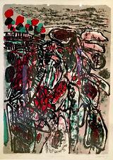Guillaume Corneille Lithographie Cobra.    «Le Désert Fleuri 1963»