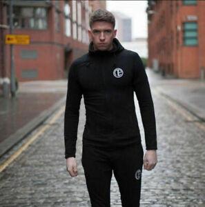 Gym Men Hooded Sweatshirt Coat Jacket Bodybuilding Fitness Jogging Zipper Hoodie