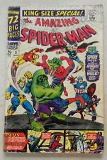 New listing Amazing Spider-Man Annual #3 1965 Spidey Joins Avengers Incredible Hulk r-Asm 11