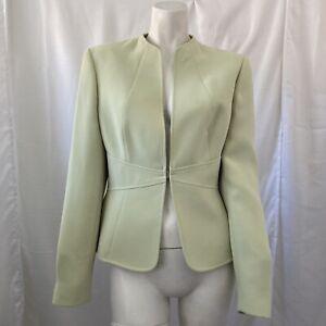 Tahari Arthur S Levine Womens Light Green Career Casual Blazer Size 6