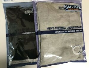 Smith's Workwear Men's Thermal Underwear Top & Bottom Long Johns Size Small