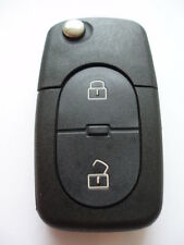 Reemplazo 2 Botón Voltear Carcasa de Llave para AUDI A3 A4 A6 A8 batería de doble remoto