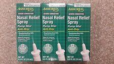 3 X Nasal Soulagement Pulvérisateur Oxymetazoline Hcl Anti-goutte
