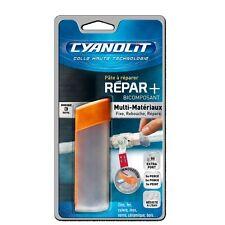 CYANOLIT PATE A REPARER EPOXY bois zinc fer cuivre inox métaux verre céramique