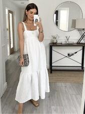 Zara Loose Fitting Textured White Dress Size L