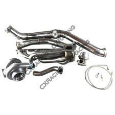 GT35 Turbo Manifold Downpipe Kit for BMW E46 M52 Engine NA-T Top Mount