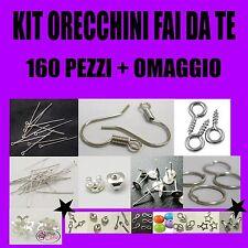 MEDIUM KIT MINUTERIA BIGIOTTERIA 160 PEZZI CREA ORECCHINI IDEA REGALO + OMAGGIO