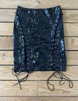 Fashion Nova NWT Women's Latex Dreams skirt Size M Black N3