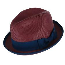 New Epoch Hats Company Men's Fedora with Contrast Band and Trim