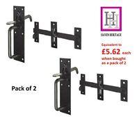 2 x SUFFOLK LATCH GARDEN GATE DOOR THUMB LOCK OUTDOOR COTTAGE STYLE BLACK D1