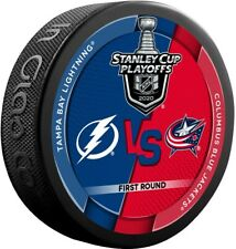 2020 Stanley Cup Playoff Dueling Puck Tampa Bay Lightning/Columbus Blue Jackets