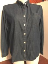 Women's American Eagle Outfitters Blue Denim Long Sl. 100% Cotton Shirt, Sz. L