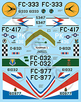 Fundekals 1/72 decals for Convair F-102A Delta Dagger kits Pt 2 - FUN72002